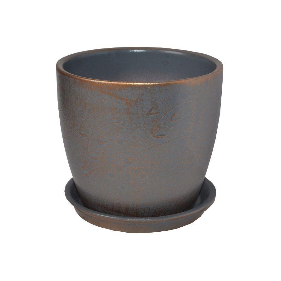 Вазон 0,5л Осень патина бронза МКЦ-2657