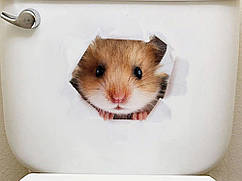 3D стикер на туалетный бочек B11