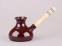Турка керамическая с деревьяной ручкой 0,5 л.