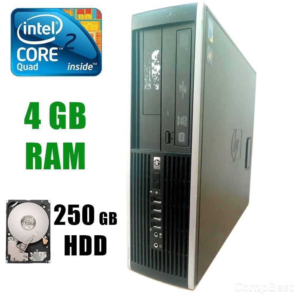 HP 8000 SFF / Intel® Core™2 Quad Q9505 (4 ядра по 2.83GHz) / 4GB DDR3 / 250GB HDD