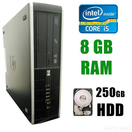 HP 8100 SFF / Intel® Core™ i5-650 (2(4)ядра по 3.2 - 3.46GHz) / 8GB DDR3 / 250GB HDD, фото 2