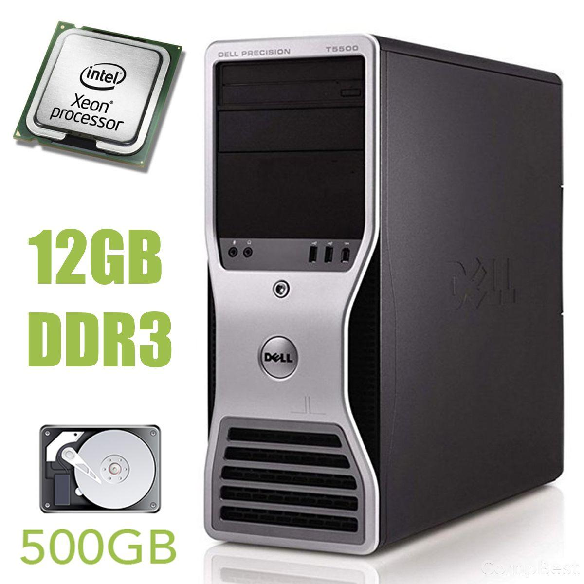 Dell Precision T5500 MT / Intel Xeon E5607 (4 ядра по 2.26 GHz) / 12 GB DDR3 / 500 GB HDD