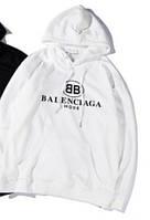 "Толстовка Худи  BALLINCIAGA Баленсиага   (  Белая ) """" В стиле Balenciaga """""