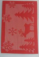 Коврик для сервировки стола красно- белого цвета 450*300 мм (шт)
