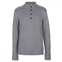Джемпер Lee Cooper Half Button Knit Grey Marl - Оригинал