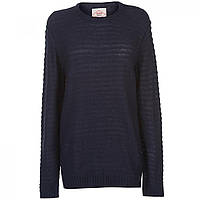 Джемпер Lee Cooper Button Shoulder Knitted  Ladies Navy - Оригинал