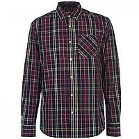 Рубашка Pierre Cardin Large Check Burgundy/Navy - Оригинал