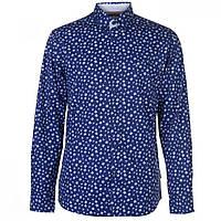 Рубашка Pierre Cardin Printed Navy/Wht Floral - Оригинал
