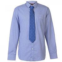 Рубашка Pierre Cardin Tie Set Blue/Wht Ging - Оригинал