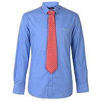 Рубашка Pierre Cardin Tie Set Blue/Red Plain - Оригинал