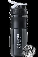 Спортивная бутылка-шейкер BlenderBottle SportMixer 820ml Black/White (ORIGINAL)