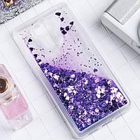 Чехол Glitter для Xiaomi Redmi 4 Standart 2/16 Жидкий блеск Фиолетовый