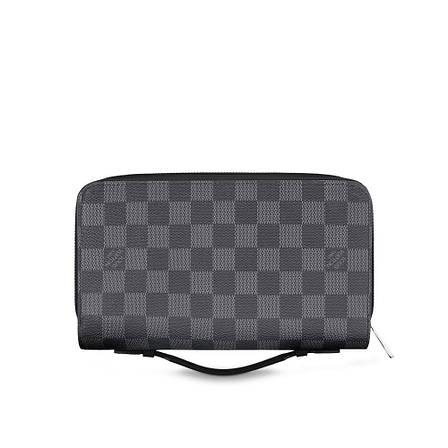 Мужской портмоне Louis Vuitton Zippy XL Damier Graphite, фото 2