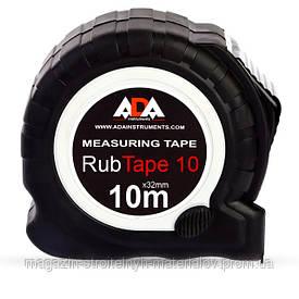 Рулетка со стальной лентой ADA RubTape 10 A00154 (  Длина  ленты 10 м,  Ширина  ленты 25 мм)