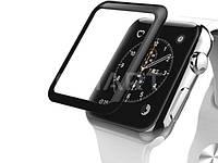 Защитное стекло 3D Apple Watch 38 mm черное
