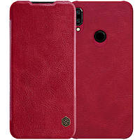 Кожаный чехол (книжка) Nillkin Qin Series для Xiaomi Redmi Note 7 / Note 7 Pro / Note 7s Красный
