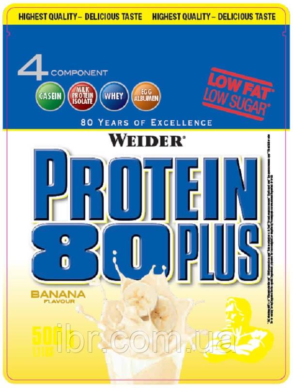 Протеин комплексный WEIDER Protein 80+ 500 g Banana
