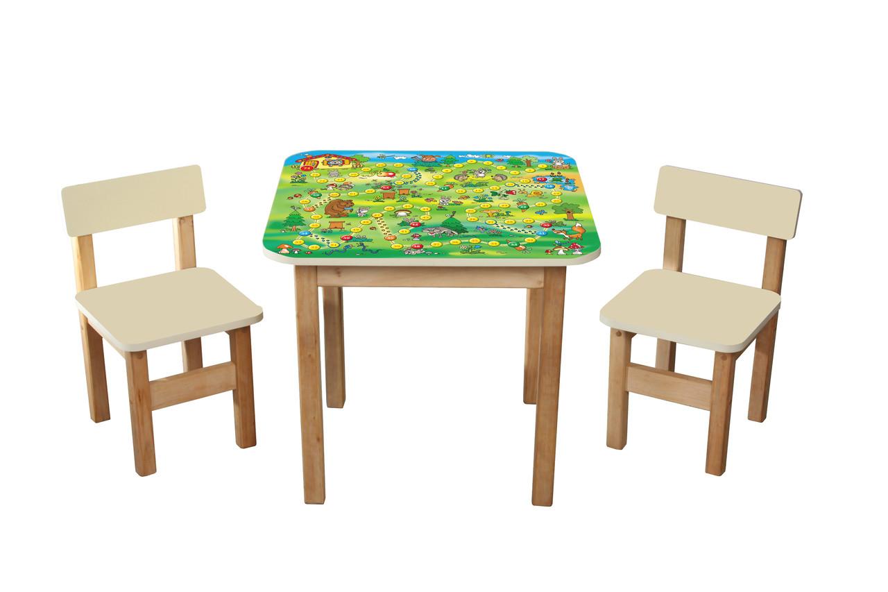 """Детский столик + 2 стульчика """"Файна гра"""""""