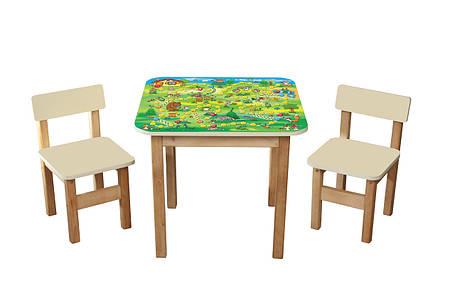 """Детский столик + 2 стульчика """"Файна гра"""", фото 2"""