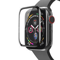 Защитное стекло 3D Apple Watch 40 mm черное