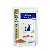 Royal Canin Renal Feline 85 г с курицей почечная недостаточность, Вес: 85 г