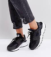 Кроссовки Nike Air Huarache Ultra. Мужские фирменные кроссовки Найк. Черные