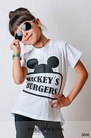 Детская туника для девочки Mickey белый