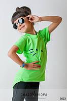 Детская футболка для девочки  Кики салатовый