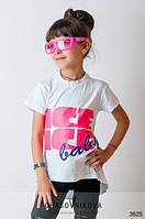 Детская футболка для девочки Ice белый