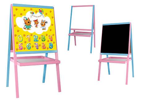 """Мольберт """"Веселые Три кота""""  3 в 1, розовый, фото 2"""