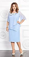 Платье Mira Fashion-4662 белорусский трикотаж, голубой, 56