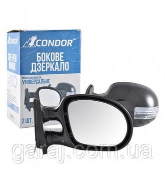 Дзеркало бокове чорне з поворотом ВАЗ 2101/03/06 (2шт) Condor K1021