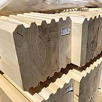 Профилированный клееный брус Лиственница сращеный конструкционный