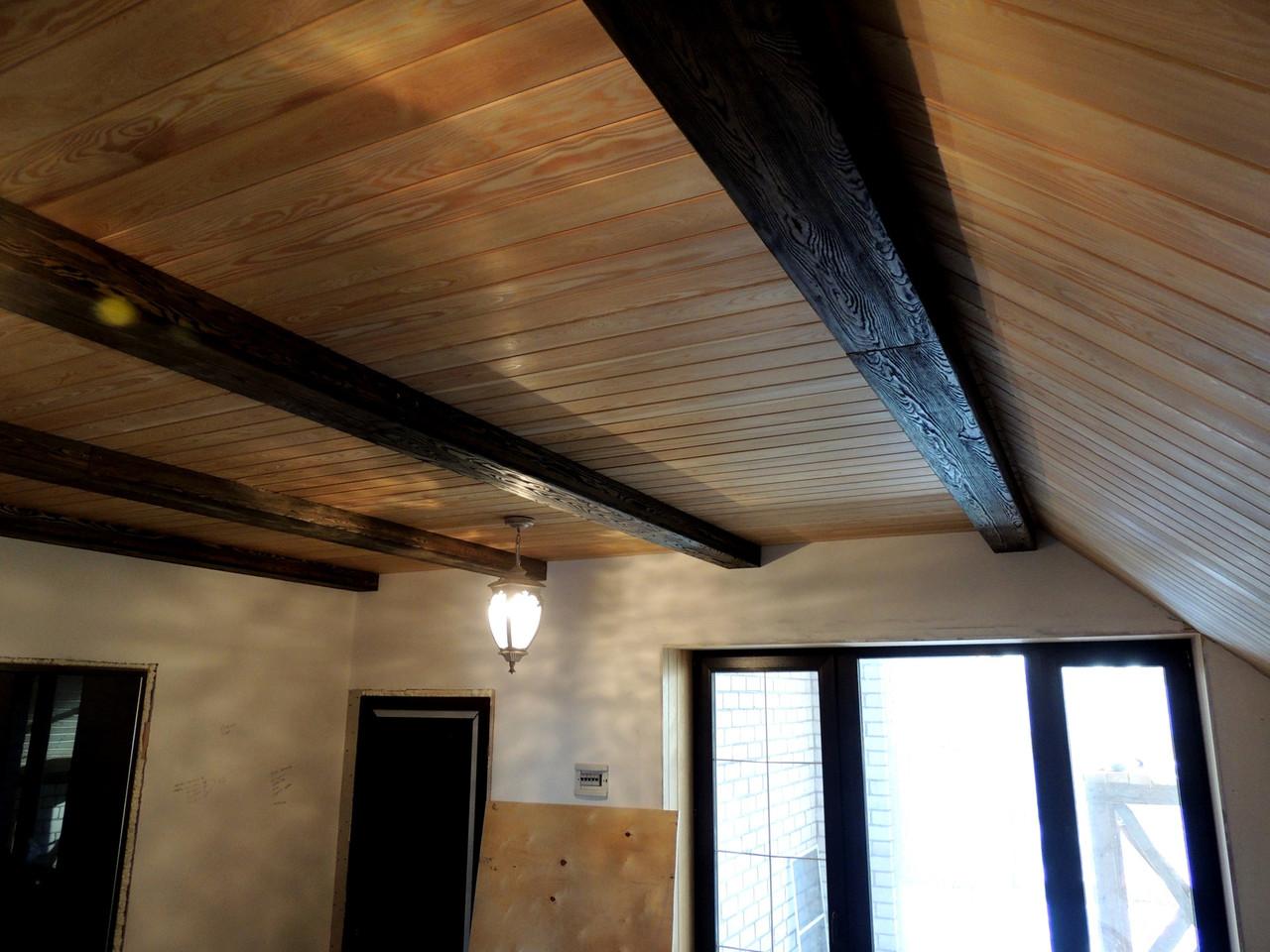 Фальш балка  деревянная из Лиственницы декоративная П-образная
