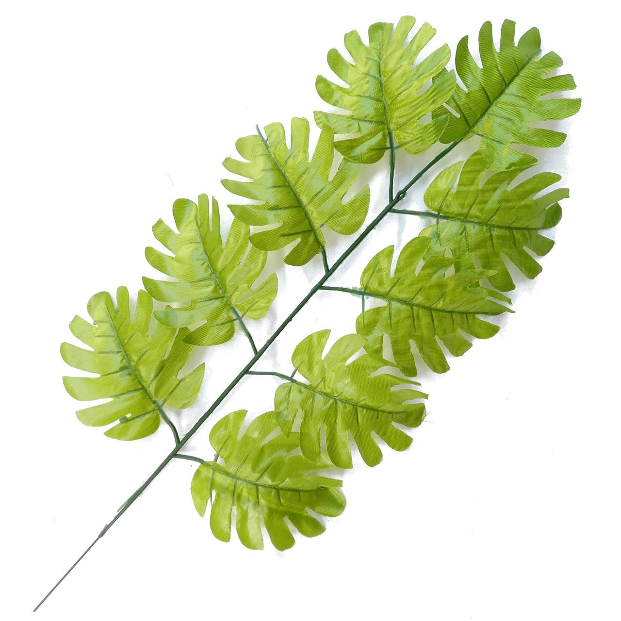 Лист монстеры зеленый 43 см  (20 шт. в уп)