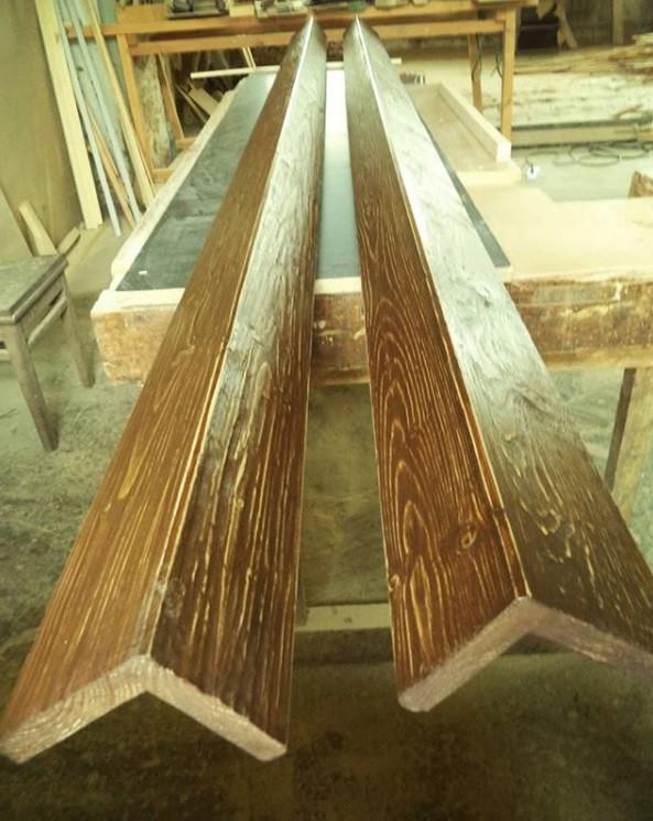Фальш балка  деревянная из Лиственницы декоративная Г-образная