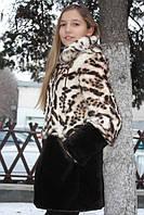 Мод 28. Шубка для девочки из меха кролика и овчины, капюшон съемный. Доставка по Украине., фото 1