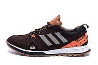 Мужские кожаные кроссовки Adidas A19 Brown Star (реплика), фото 1