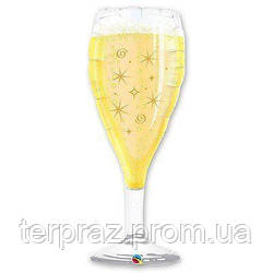 """Фольгированные шары большие фигуры  фигура/в 39"""" бокал шампанского"""
