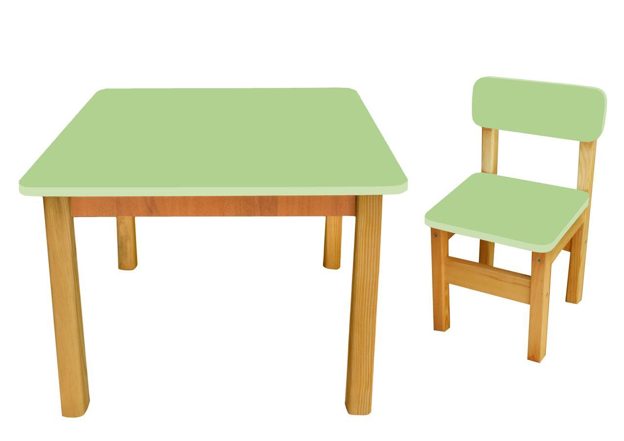 Эко набор стол+1 стульчик, салатовый