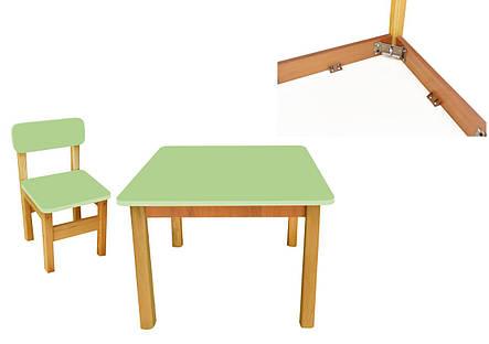 Эко набор стол+1 стульчик, салатовый, фото 2