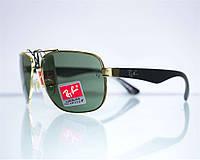 Оптом очки Ray-Ban мужские солнцезащитные - Золотые - 3483, фото 1