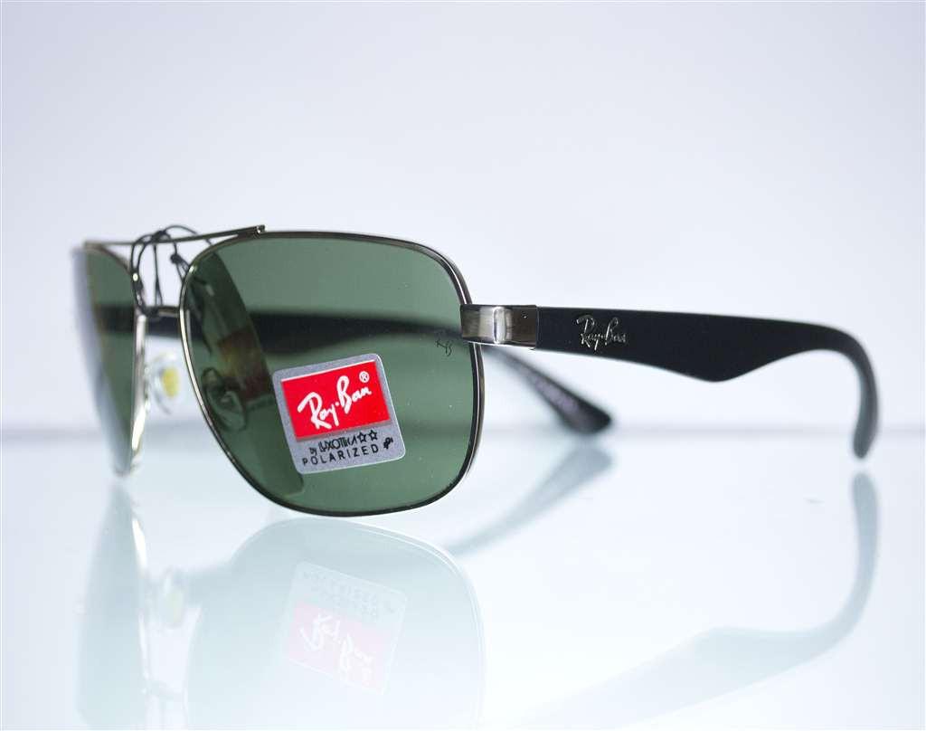 Оптом очки Ray-Ban мужские солнцезащитные - Серебряные - 3483