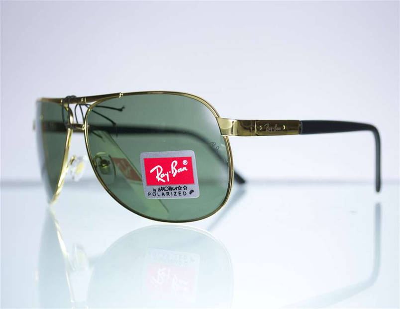 Оптом окуляри Ray-Ban Aviator сонцезахисні - Золоті - 6052, фото 2