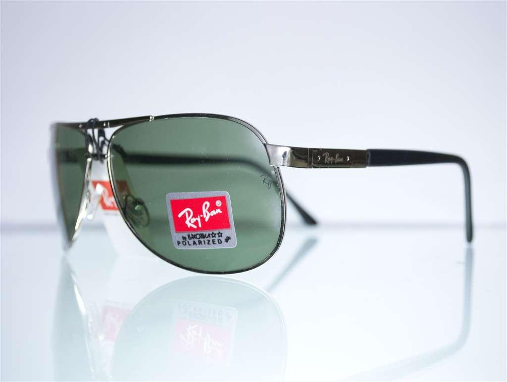 Оптом очки Ray-Ban Aviator солнцезащитные - Серебряные - 6052