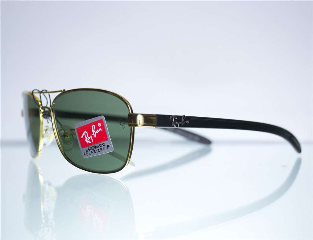 Оптом очки Ray-Ban мужские солнцезащитные - Золотые - 8302
