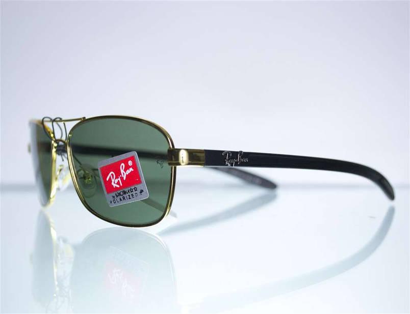 Оптом очки Ray-Ban мужские солнцезащитные - Золотые - 8302, фото 2