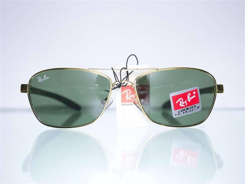 Оптом окуляри Ray-Ban чоловічі сонцезахисні - Золоті - 8302, фото 2