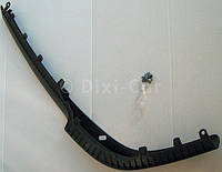 Накладка (спойлер, губа, молдинг, декоративная окантовка) переднего бампера нижняя левая половинка (чёрная резино-пластиковая) GM 6400595 13204669