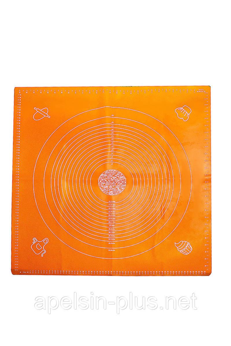 Професійний жароміцний силіконовий килимок з розміткою 70 см 69,5 см ОПТ